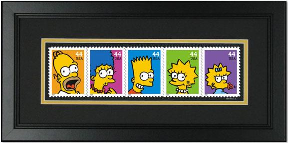 Timbres de la famille Simpson