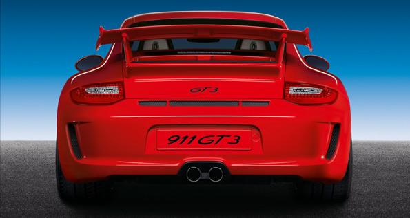 Porsche 911 GT3 (Type 997), vue d'arrière